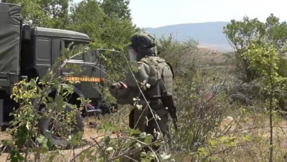 Ռուս խաղաղապահներն ականազերծման աշխատանքներ են սկսել ԼՂ Մարտունու շրջանի Կոլխոզաշեն գյուղում. ՌԴ ՊՆ