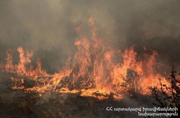 Գեղարքունիքի մարզի Լանջաղբյուր գյուղում այրվել է մոտ 1000 հակ անասնակեր