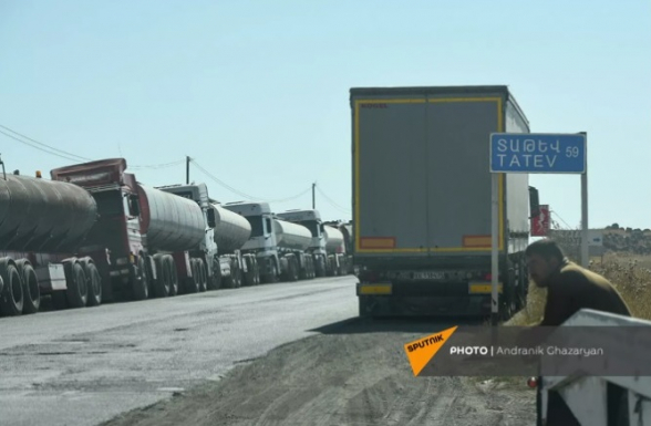 СНБ Армении временно перекрыла дорогу из Гориса в Капан для иранских грузовиков