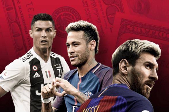 Криштиану Роналду возглавил список самых высокооплачиваемых футболистов года