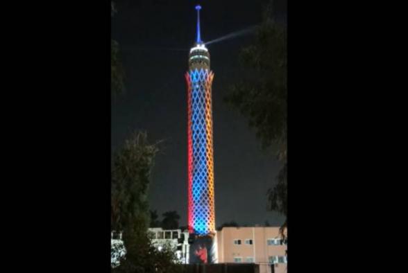 Կահիրեի աշտարակը լուսավորվել է ՀՀ դրոշի գույներով՝ ի պատիվ Հայաստանի անկախության 30-ամյակի (տեսանյութ)