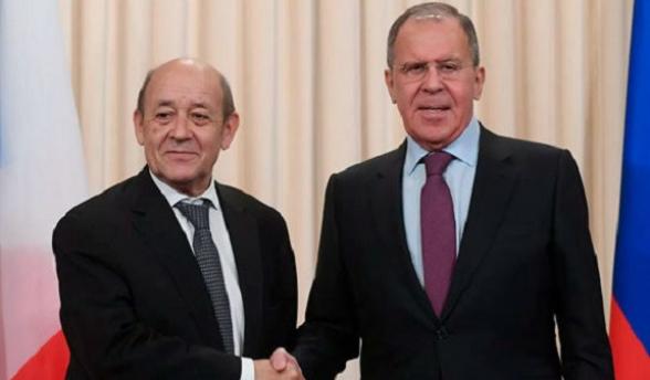 Ռուսաստանի և Ֆրանսիայի ԱԳ նախարարները քննարկել են իրավիճակը ԼՂ-ում, կարևորել ԵԱՀԿ Մինսկի խմբի ձևաչափը