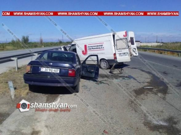 Արարատի մարզում բախվել են Opel Vectra-ն ու Ford Transit-ը. 4 վիրավորներից մեկը մանկահասակ երեխա է