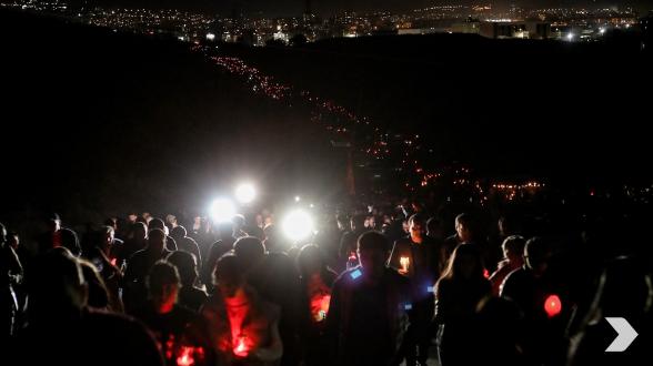 Факельное шествие к «Ераблулу» с высоты птичьего полета (видео)