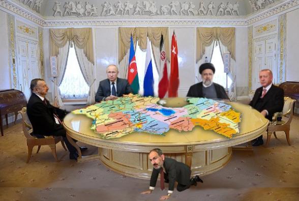 Հայաստանը՝ բանակցային սեղանի վրա, Նիկոլը՝ սեղանի տակ