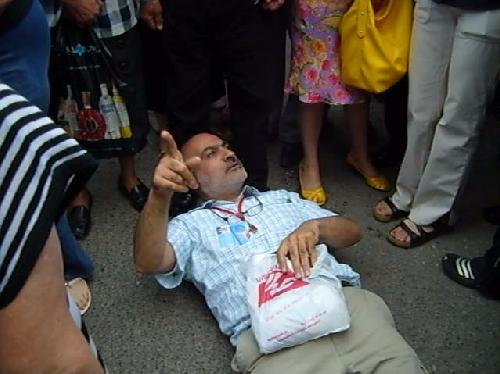 Վարդգես Գասպարիի բողոքի ակցիան հուլիսի 2–ի հանրահավաքի ժամանակ