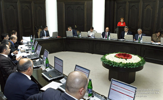 ՀՀ կառավարության քննարկմանն է ներկայացվել 2012 բյուջեի նախագիծը