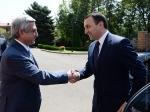 Սերժ Սարգսյանն ընդունել է Վրաստանի վարչապետ Իրակլի Ղարիբաշվիլիին