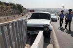 Ավտովթար Երևանում. կամրջի երկաթե արգելապատնեշը փրկել է 32-ամյա վարորդին