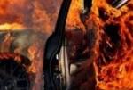 Քաջարանում հյուրանոցի բակում կայանված «Միցուբիշի Պաջերո» է հրկիզվել
