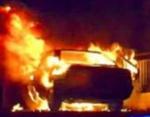 Ղարս ռեստորանի մոտ ավտոմեքենա է այրվել