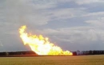 На газопроводе Баку-Тбилиси-Эрзурум произошел мощный взрыв