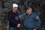 Շղթայական ավտովթար Մյասնիկյան պողոտայում. երիտասարդը պնդում է, որ վնասվածքը ստացել է «պադեզդում» (լուսանկար)