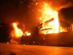 Պղնձամոլիբդենային կոմբինատի մոտակայքում ավտոբուս է այրվել