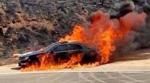 Այրվել է ավտոմեքենա. վարորդը տեղում մահացել է