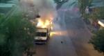 «Սասնա ծռերն» այրել են ՊՊԾ գնդի 3 ծառայողական մեքենա (տեսանյութ)