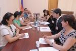 Հանդիպում ԱԺ մարդու իրավունքների պաշտպանության և հանրային հարցերի մշտական հանձնաժողովում
