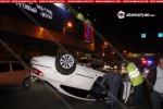 Տեսանյութ, թե ինչպես է Երևանում «Volkswagen»-ը բախվում «Газель»-ին և գլխիվայր շրջվում
