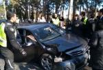 Машина из кортежа Эрдогана попала в аварию (видео)