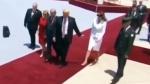 Թել-Ավիվում կարմիր գորգով անցնելիս Մելանյա Թրամփը հետ է մղել ամուսնու ձեռքը (տեսանյութ)