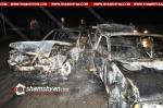 Լոռու մարզում բախվել են 07-ը, Mercedes-ը և Լոռու մարզի դատարանի նախագահի Hyundai-ը. ավտոմեքենաները վերածվել է մոխրակույտի