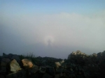Кадр дня: вдали, в облаках виднеется силуэт солдата