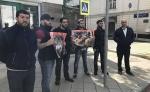Բողոքի ակցիա՝ Բաքվում Իսրայելի դեսպանատան առջև. կան տասնյակ ձերբակալվածներ