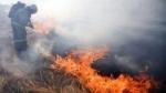 Կիևյան կամրջի մոտ այրվել է 1500 քմ խոտածածկ տարածք