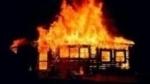 Գանձաքարի գյուղապետարանի մոտ այրվել է ոչ բնակելի շինություն