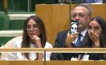 Լեյլա Ալիևան սելֆիներ էր անում ՄԱԿ-ի Գլխավոր ասամբեայում իր հոր ելույթի ժամանակ (լուսանկար, տեսանյութ)