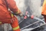 Пожар в городе Гюмри