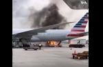 Ամերիկյան ավիաուղիների թռիչքը խափանվել է հրդեհի պատճառով