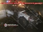 Խոշոր ու ողբերգական ավտովթար-հրդեհ Երևան–Արմավիր ճանապարհին, բախվել են Nissan-ն ու 06-ը, կա զոհ