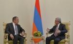 Սերժ Սարգսյանն ընդունել է ՌԴ արտաքին գործերի նախարարին