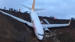 Համացանցում են հայտնվել Տրապիզոնի օդանավակայանում վթարի ենթարկված ինքնաթռում արված կադրերը