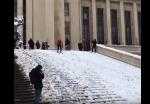 Փարիզի բնակիչները վայելում են ձյունը