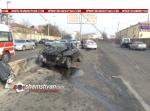 Բացառիկ տեսանյութ․ Երևանում մեծ արագությամբ ավտովթարից տուժածների թվում է ԵՊՀ-ի ուսանող