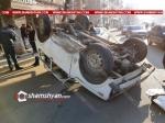 Վանաձոի Մանկավարժական համալսարանի դիմաց բախվել են 60-ամյա վարորդի Opel-ն ու 25-ամյա վարորդի Нива-ն, վերջինը գլխիվայր շրջվել է
