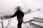 Օլիմպիական չեմպիոնը սնոուբորդ է վարել անսպասելի վայրերում