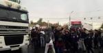 Երեք մեծ բեռնատարներ փակել են Կիևյան-Հալաբյան խաչմերուկը