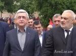 Սերժ Սարգսյանը` սպարապետի մոր հուղարկավորությանը