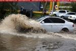 Նոր Նորքում դիտահորերի խցանման պատճառով բազմաթիվ ավտոմեքենաներ հայտնվել են ջրի մեջ