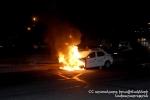 Չարենցավանում ավտոմեքենա է այրվել