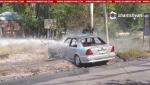 Վարորդին դույլով ջրել են և նա բախվել է գազատար խողովակին (տեսանյութ)