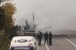 Այրվել է Սալոմե Զուրաբիշվիլիի գովազդային վերնաշապիկները տեղափոխող բեռնատարը (տեսանյութ)