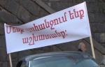 Ալավերդու պղնձաձուլական գործարանի արդեն նախկին աշխատողները, ի նշան բողոքի, փակել են Վրաստան տանող մայրուղին (տեսանյութ)