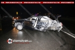 Երևանյան լճի կամրջի վրա բախվել են Mercedes-ը, մարդատար Газель-ը, Vօlkswagen-ը և Ford-ը
