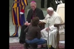 Վատիկանում երեխան անսպասելի բարձրացել է բեմ, ուր գտնվում էր Հռոմի Պապը