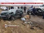 Սյունիքում բախվել են Opel Astra-ները. 5 վիրավորներից 2-ը ոստիկանության աշխատակիցներ են.