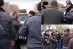 В Эчмиадзине произошли столкновения между гражданами и требующими отставки Католикоса (видео)
